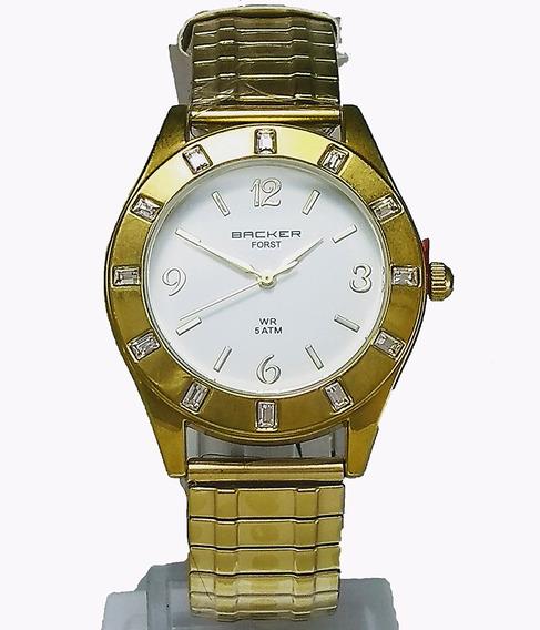Relógio Backer Feminino 3473145f Br Dourado