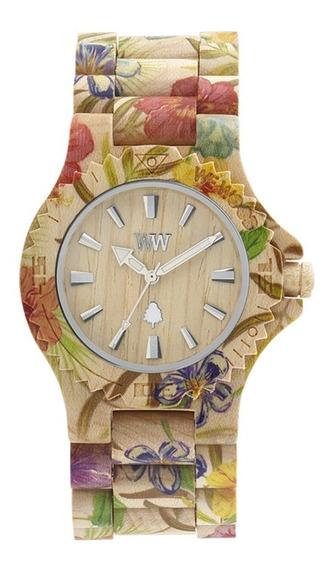 Relógio Wewood Date Flower Beige + Sedex Grátis