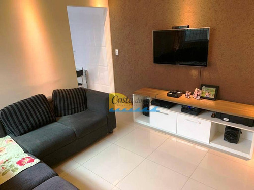 Casa Com 2 Dormitórios À Venda, 58 M² Por R$ 387.000,00 - Canto Do Forte - Praia Grande/sp - Ca5562