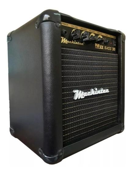 Amplificador Cubo Contra Baixo Mackintec Maxx Bass 30 Preta