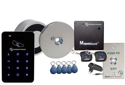 Kit Control Acceso Inalambrico Electroimán Lector Y Botón