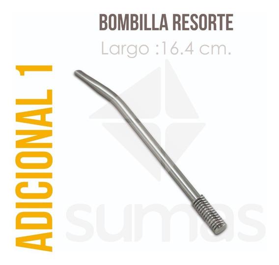 Bombilla Niquelada Resorte Souvenir A Granel Sumas
