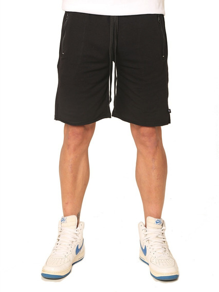 Shorts Bermuda Básica Algodón Negro, Billionz 4063