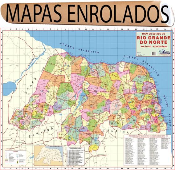 Mapa Estado Rio Grande Do Norte 120 X 90cm Gigante Enrolado