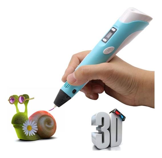 Caneta Impressora 3d Com Filamento De Plastico Abs Bivolt