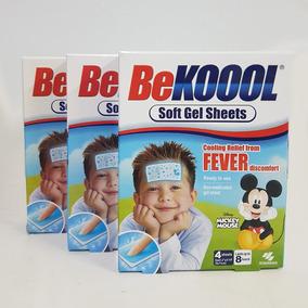 Kit 03 Be Kool Koool Soft Gel Kids Adesivo Para Febre