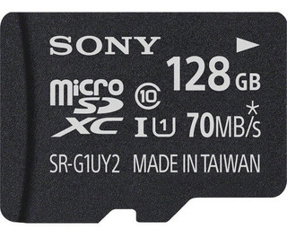 Cartão Microsdxc Sony 128gb Com Adaptador Sd De 70mb/s Uhs-i