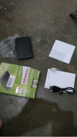 Hd Externo Portátil Toshiba Canvio 2tb Usb 3.0 Preto