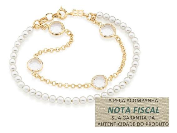 Pulseira Dupla Elo Portugues F. Ouro Rommanel 551430