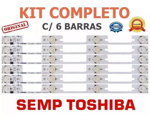 Barramento De Led Toshiba Tv40l2400 Dl4045 Dl3944 Kit 6peça