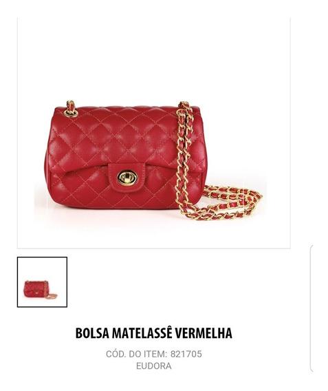 Bolsa Metalassê Vermelha