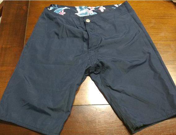 Pantalon Corto Hombre Baño Playa Hering Reversible