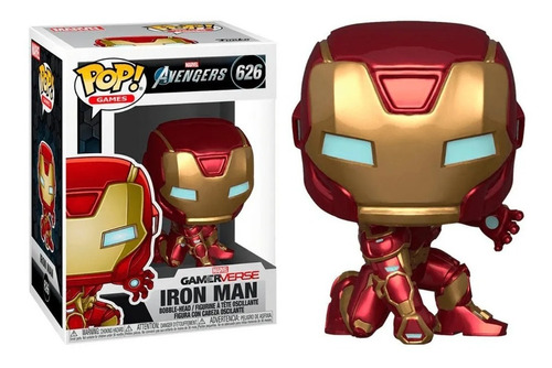 Funko Pop Games Iron Man 626 Gamer Verse Marvel Avengers.