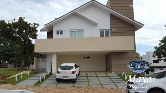 Sobrado Com 4 Suítes, 380 M² No Condomínio Mirante Do Lago - 246