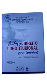 Livro Aulas De Direito Constitucional Para Concursos 3° Ed
