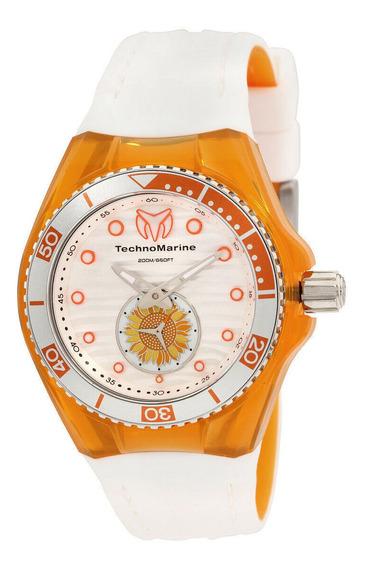 Relógio Feminino Technomarine 113023 Pulseira De Silicone