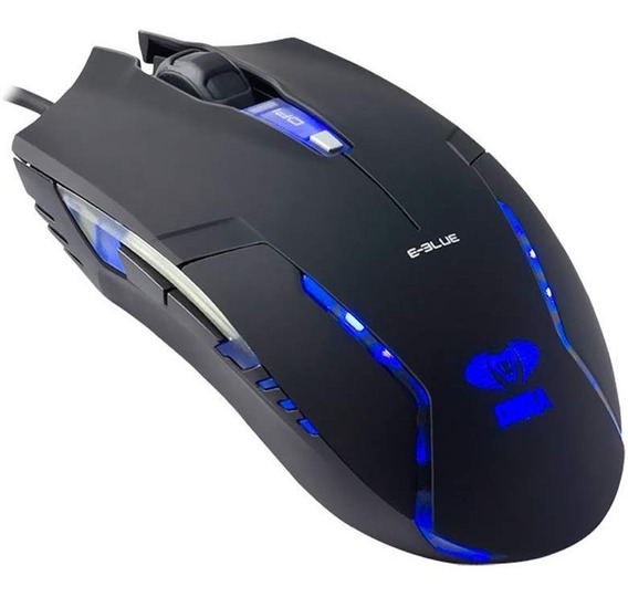 Mouse Gamer Optico Cobra 2400dpi Ems151bk E-blue Iluminado
