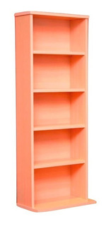 Mueble Biblioteca Porta Dvd Cd Blu Ray Etc. - Color Cedro