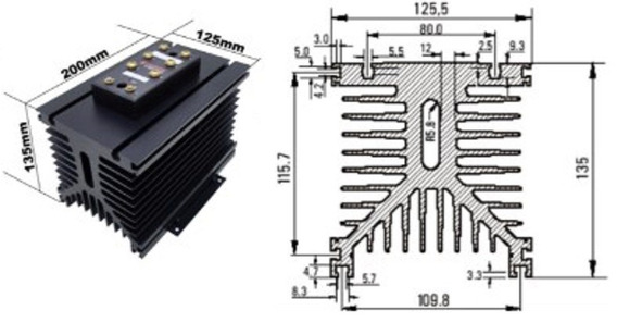 Dissipador De Calor Td20/200 Teletronic