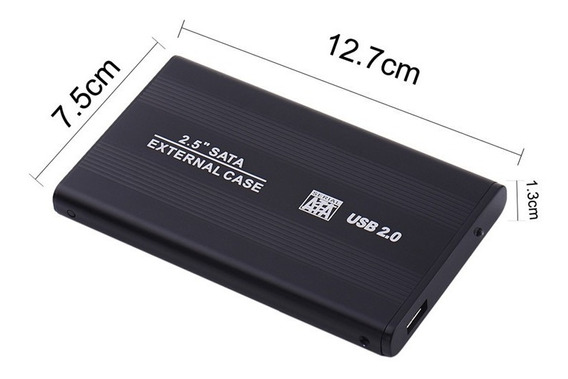 Kit 2 Case 2.5 P/ Hd Externo Jogos Playstation 2 Até 1000gb
