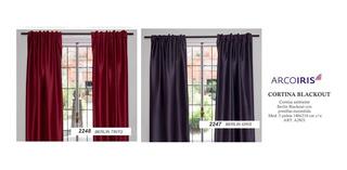 Jgo.cortina Arco Iris En Tela Blackout Con Presillas Escondi