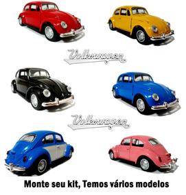 Kit Fusca Veiculo Miniatura Automóveis 1/32 Com 5 Peças