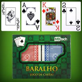 Baralho Jogos De Cartas 100% Plástico C/ 108 Cartas Original