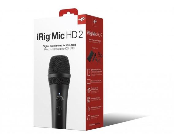 Microfone Ik Multimedia Irig Mic Hd 2 Condenser Digital Hd2