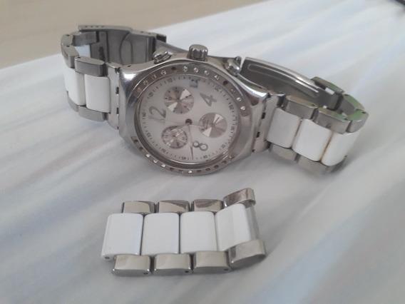 Relógio Swatch Chrono Irony Dreamwhite Feminino Original!!!