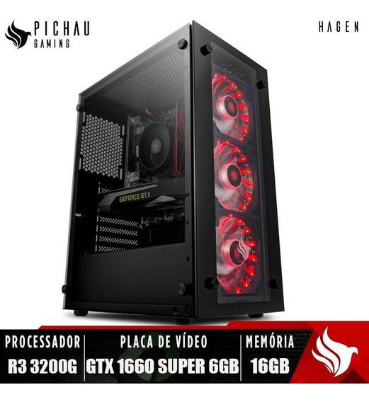 Pc Gamer Pichau Hagen, Ryzen 3 3200g, Geforce Gtx 1660 6gb