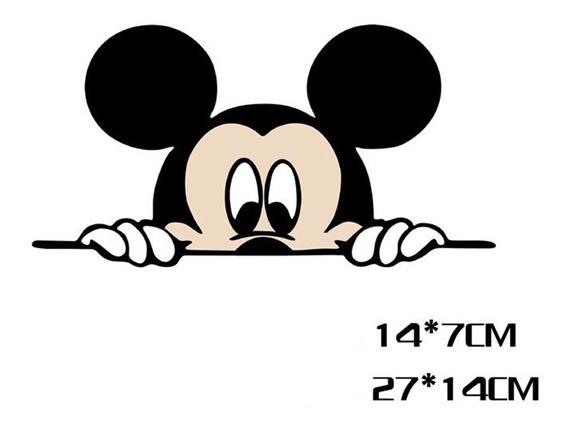 Menino Mickey Mouse Disney Desenho Retovisor Carro Moto Casa