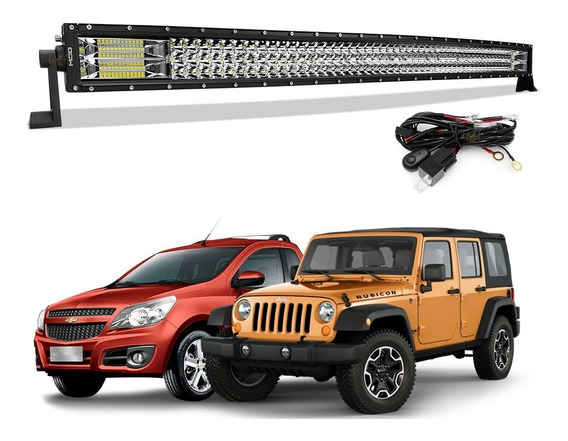 Barra De Led 576w 7d 42 Polegadas P Jeep Pickup Off Road 4x4