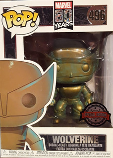 Funko Pop! Marvel #496 (80th) Wolverine Patina Excl Nortoys