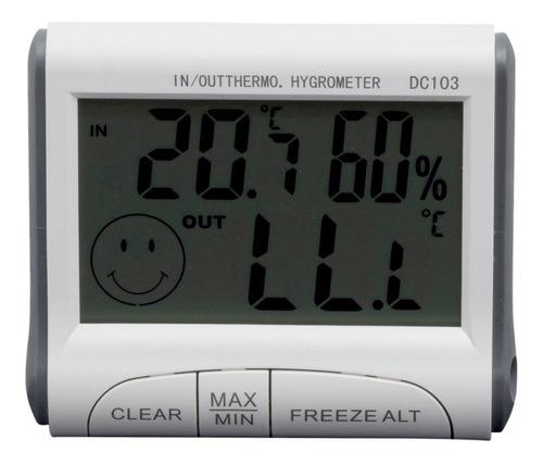 Imagem 1 de 6 de Higrômetro Digital Com Termômetro Temperatura Max E Min