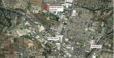 Terreno Renta 16000 M2 Cerca Av Aviacion Y Vallarta Zapopan,jal