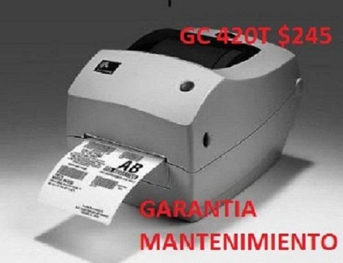 Impresora Etiquetas Codigo Barras Zebra Termica Gc420t Usada