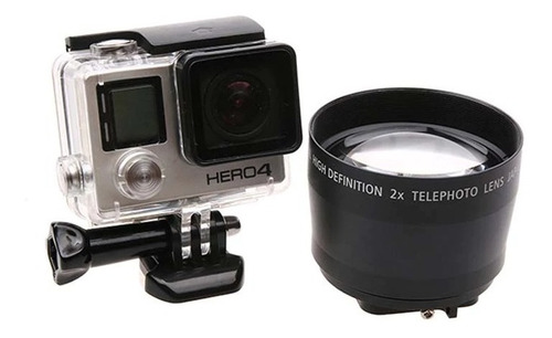 Lente Zoom 2x Gopro Hero 3 Y 4 Profesional 52mm