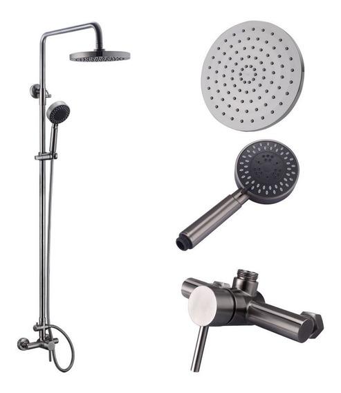 Sistema De Ducha Regadera Baño Spa Lujo Mezclador Acero Inox