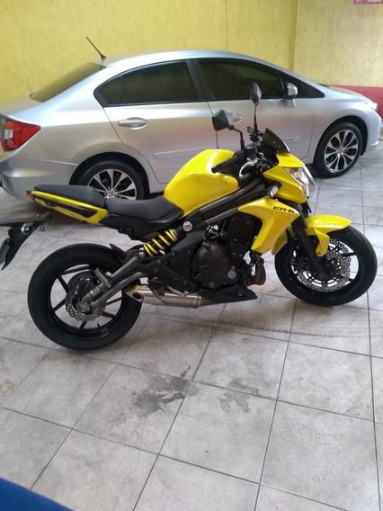 Kawasaki Er-6n Black Yellow 650 Cc