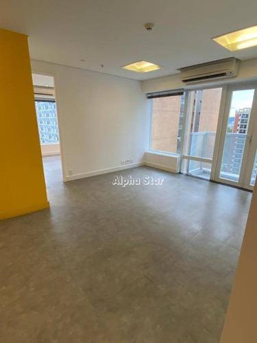 Imagem 1 de 6 de Sala Para Alugar, 71 M² Por R$ 3.400,00/mês - Edifício Quebec Alphaville - Barueri/sp - Sa0432