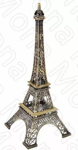 Torre Eiffel 18 Cm Adorno De Metal Souvenir Paris
