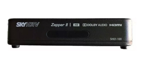Receptor Sky Pré Pago Hd Zapper + Recarga Digital 30 Dias