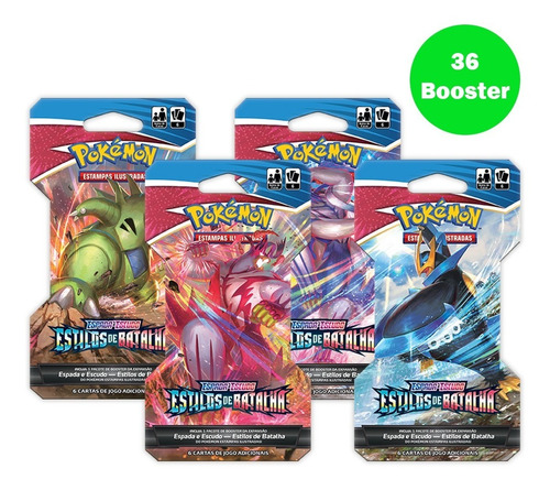 Card Game Pokémon Ee5 36 Blister Unitário Estilos De Batalha