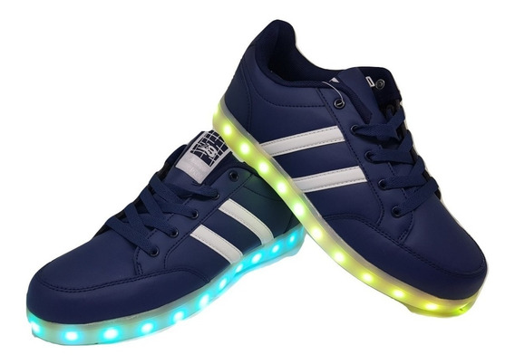 Zapatillas Con Luces Led Recargables Talles 40 Al 45 3 Color