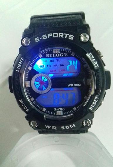 Relógio Digital Totalmente A Prova De Água Tamanho Medio