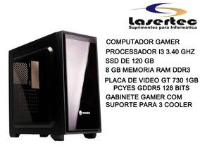 Computador Gamer Processador I3 3,40 Ghz 8gb Memoria Ssd120