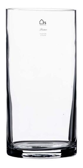 Vaso Em Vidro Ts Brasil Cilindro Lp 15x30cm