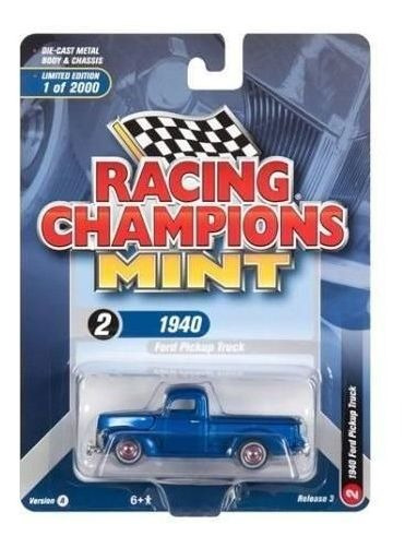 Ford Pickup Truck 1940 - 2018 R3 Set A Racing Champions 1:64