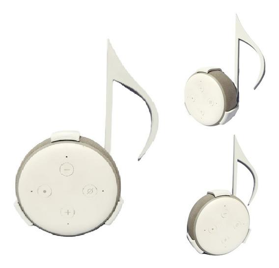 Suporte Parede Amazon Alexa Echo Dot 3 Nota Musical Colcheia