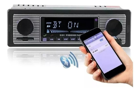 Radio Vintage Retro Usb Bluetooth Carro Fusca Opala Top